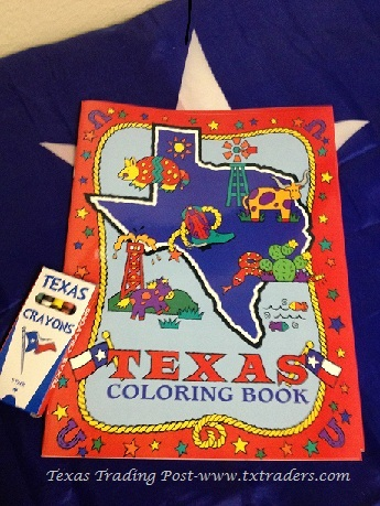 Texas Coloring Book & Crayons for Texas Kids