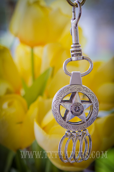 Texas Ranger Star with Texas State Seal Multi Key Ring
