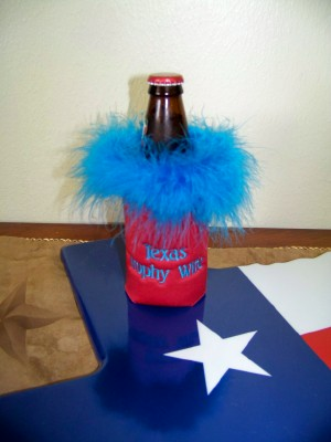 Texas Trophy Wife Beer Coozie