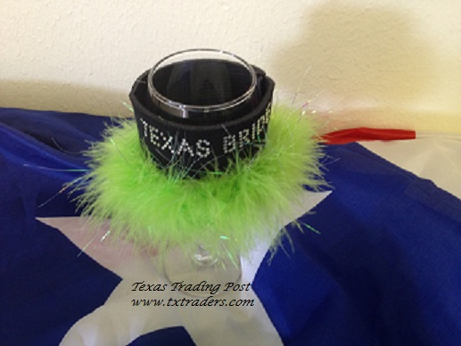 Wine Glass Coozie Texas Bride with Bling