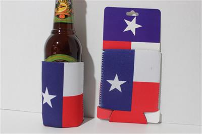 Texas Flag Coozie for Cans or Bottles