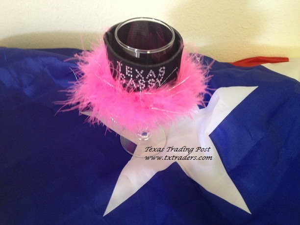 Texas Sassy Wine Glass Coozie with Bling