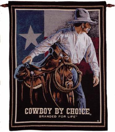 Cowboy by Choice Tapestry