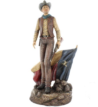 Cowboy Figurine with our Texas Flag