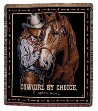 Cowgirl by Choice Afghan Throw Blanket