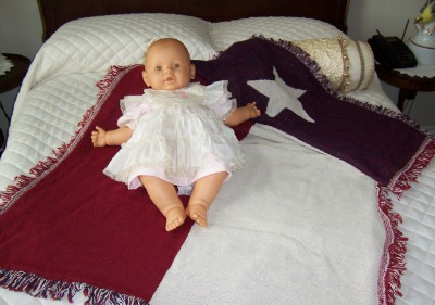 Texas Flag Baby Blanket-Jacquard Cotton Baby Blanket