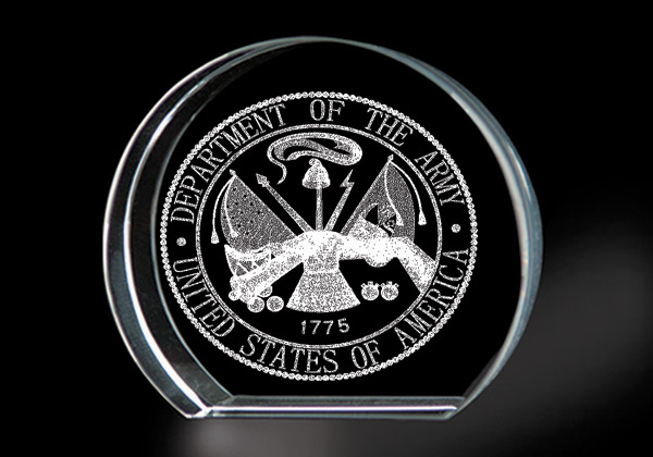 United States Army - Genuine Lead Crystal