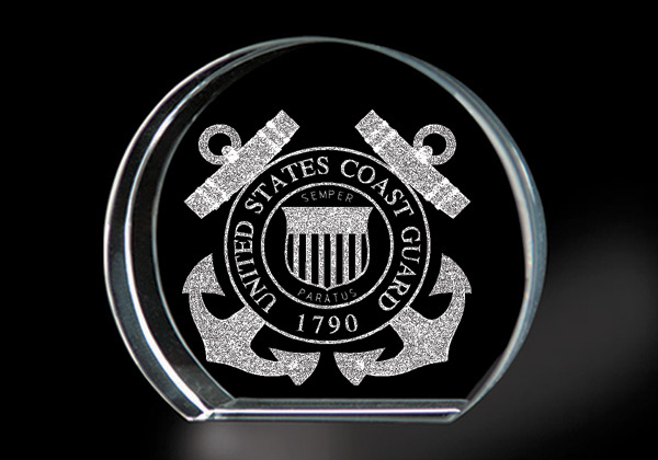 United States Coast Guard - Genuine Lead Crystal