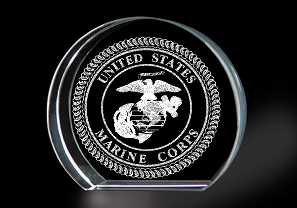 United States Marine Corps Genuine Lead Crystal