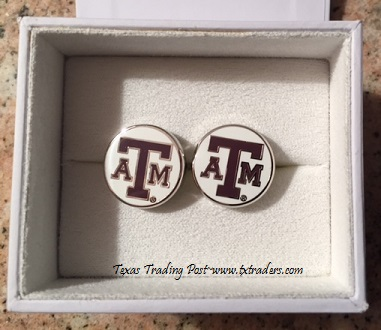 Texas A&M Cufflinks - Show your Texas Aggie Pride!