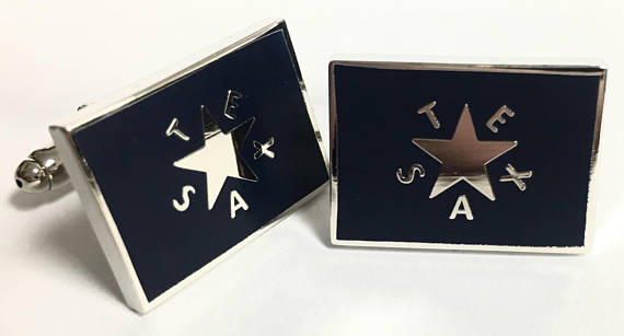 Texas Cufflinks - First Republic of Texas Flag