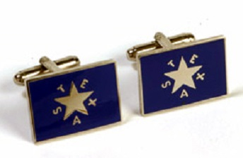 Cufflinks - First Republic of Texas Flag