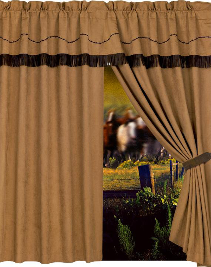 Drapes and Valances for Western, Cabin, or Lodge Decor