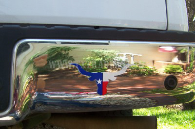 Texas Flag Longhorn Decal