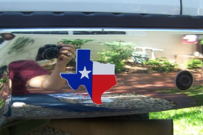 Texas Shaped, Flag Design Decal