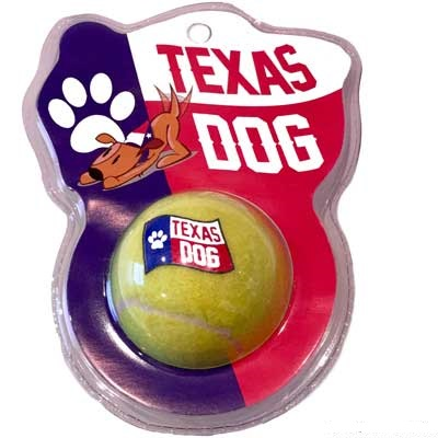 Texas Dog Tennis Ball