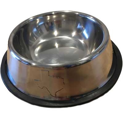 Stainless Steel Texas Dog Bowl