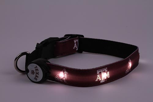 Texas Dog Collar - Texas A&M Lighted Dog Collar