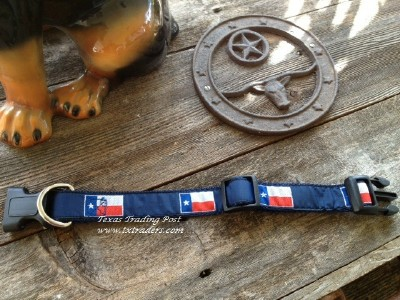 Texas Flag Dog Collar