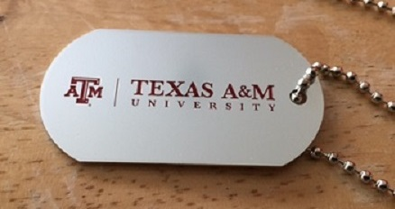 Texas A&M Dog Tag