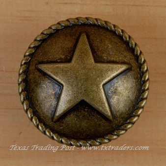 Drawer Dome Pull with the Texas Lone Star