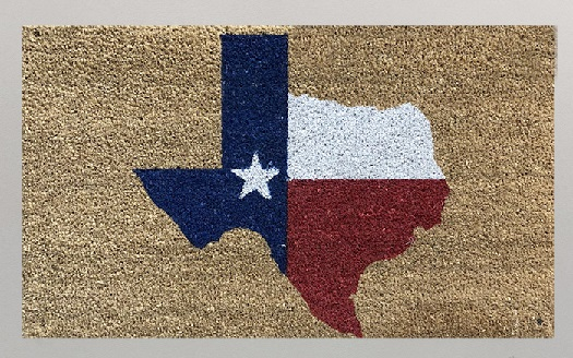 Texas Coir Doormat with the State of Texas