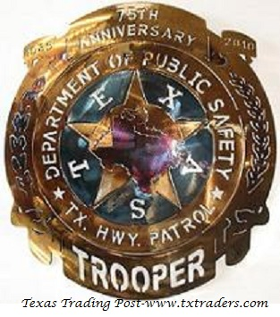 Texas Department of Public Safety - 75th Anniversary Metal Art