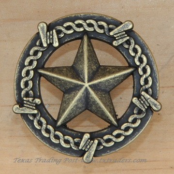 Drawer Pull with the Texas Lone Star & Barb Wire