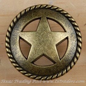 Drawer Pull with the Texas Lone Star with Rope
