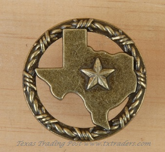 Drawer Pull or Door Knob with the Map of Texas