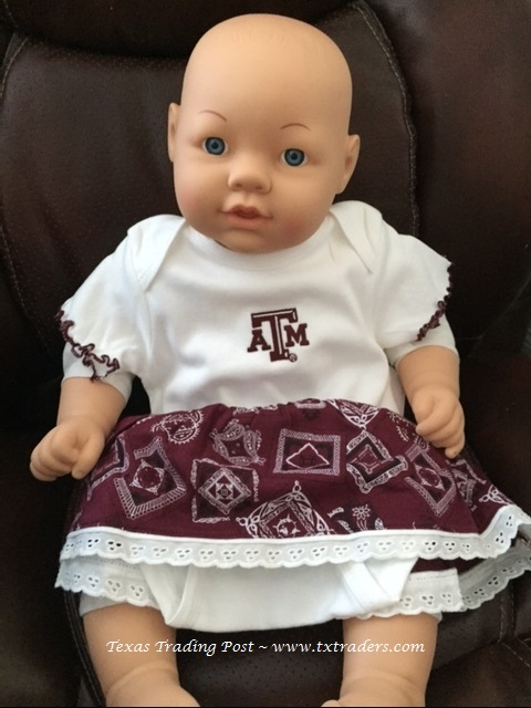 Baby Girl Bandana Dress with Texas A&M Logo