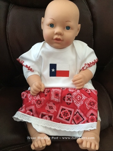 Baby Girl Bandana Dress with Texas Flag