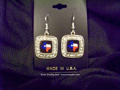 Blingy Texas Map Earrings