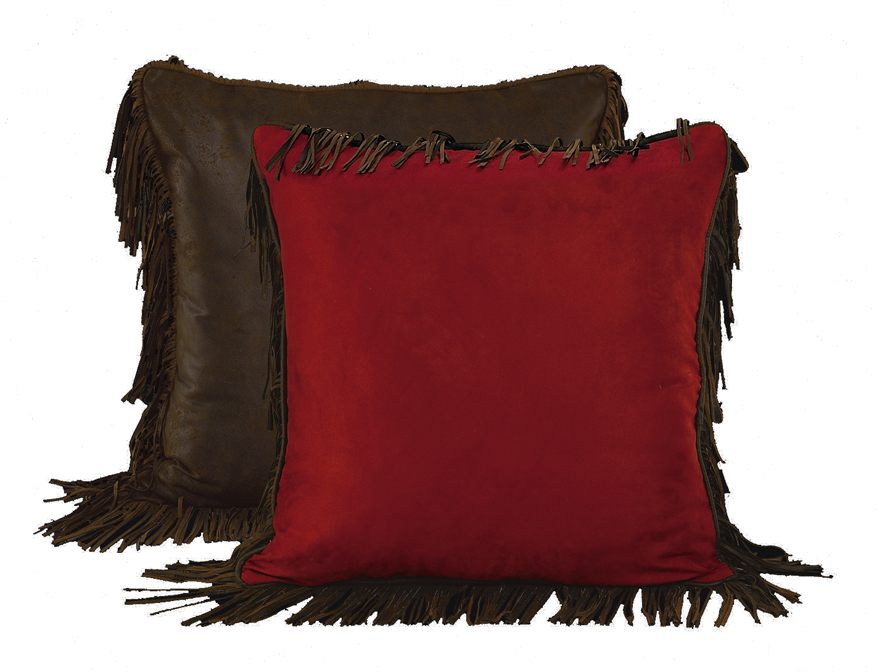 Euro Sham Pillow Cover for Red Rodeo Bedding-Reversible in Dark Tan