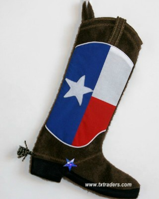 Boot Christmas Stocking - Texas Flag Christmas Stocking