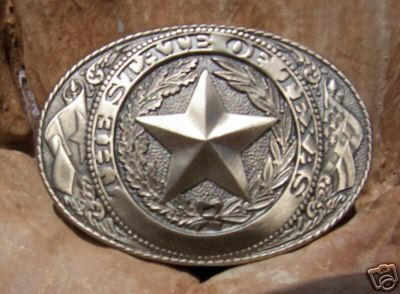 Buckle - Texas State Seal Buckle
