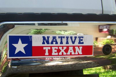Native Texan - Texas Bumper Sticker