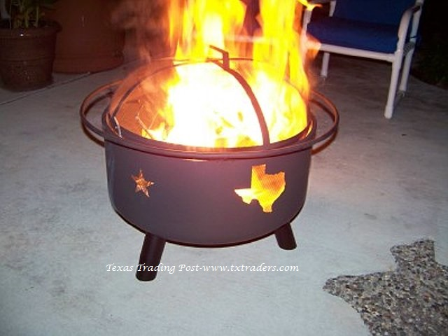 - Fire Pit With Texas Cut Outs