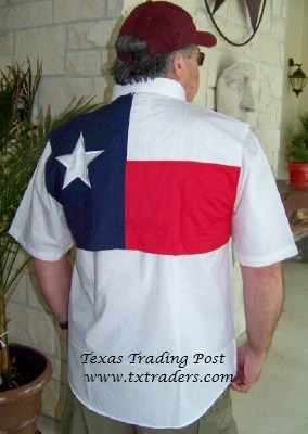 Fishing Shirt with Texas Flag - Short Sleeve
