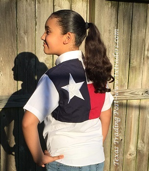 Fishing Shirt with Texas Flag for Kids - Short Sleeve