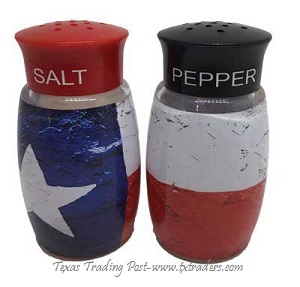Texas Flag Salt And Pepper Shakers
