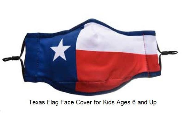 Texas Flag Mask Cloth Face Cover - For Kids 6 & Up