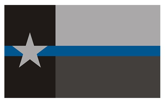 Texas Thin Blue Line Memorial Flag - Police Lives Matter