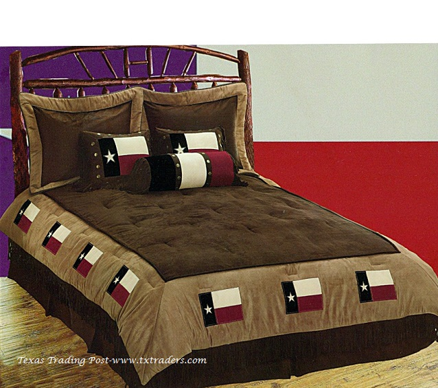 Texas Flag Comforter Set/Bedding - 7 Piece - Texas Bedspread - Super King