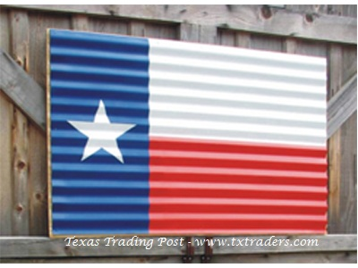 Corrugated Texas Flag