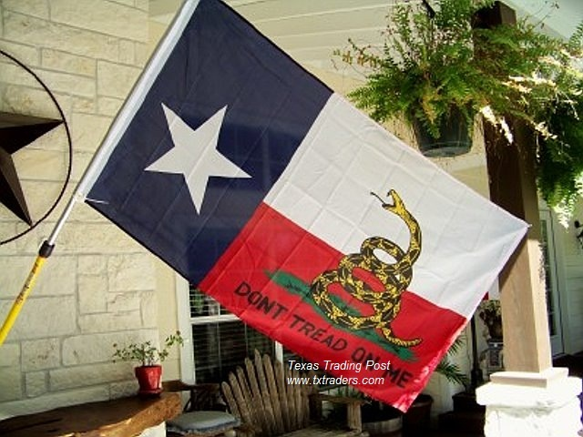 Battle Flag of Texas - Gadsden Flag Don't Tread on Me Texas