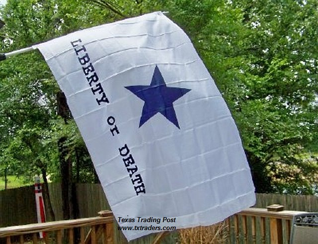 Battle Flag of Texas - Liberty or Death - Goliad - Cotton