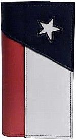 Leather Texas Flag Wallet