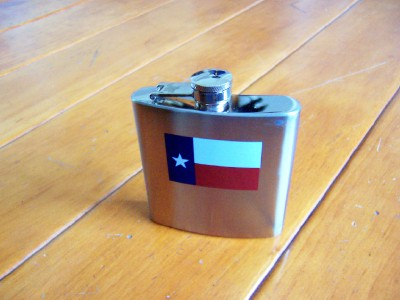 Hip Flask with the Texas Flag