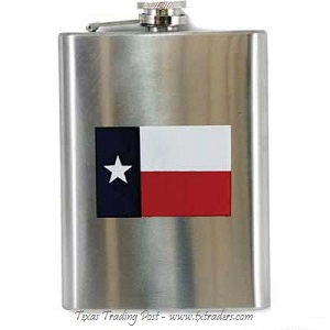 Hip Flask with the Texas Flag